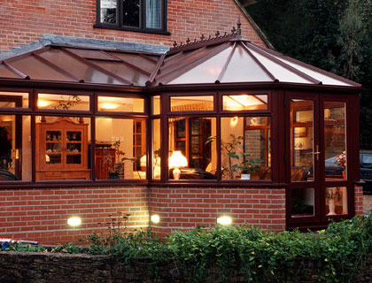 Conservatories – Rosewood Finish Victorian Conservatory