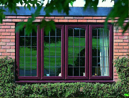 Windows – PVC-U Casement Window Finished in Rosewood